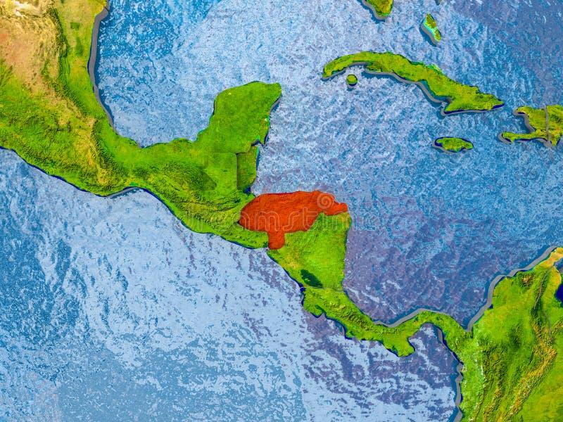 Carte du Honduras illustration libre de droits