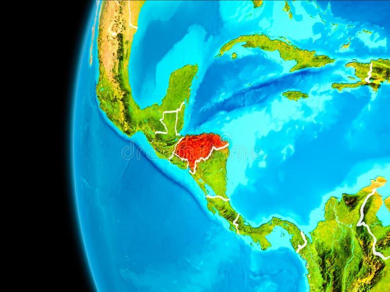 Carte du Honduras en rouge illustration libre de droits