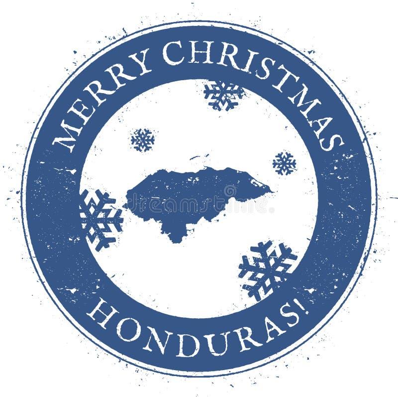 Carte du Honduras Joyeux Noël Honduras de vintage illustration libre de droits