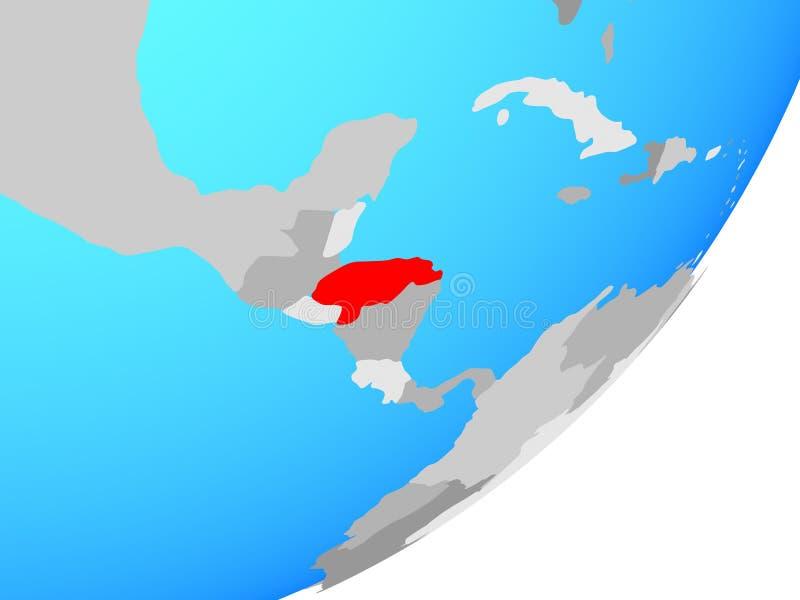Carte du Honduras sur le globe illustration libre de droits