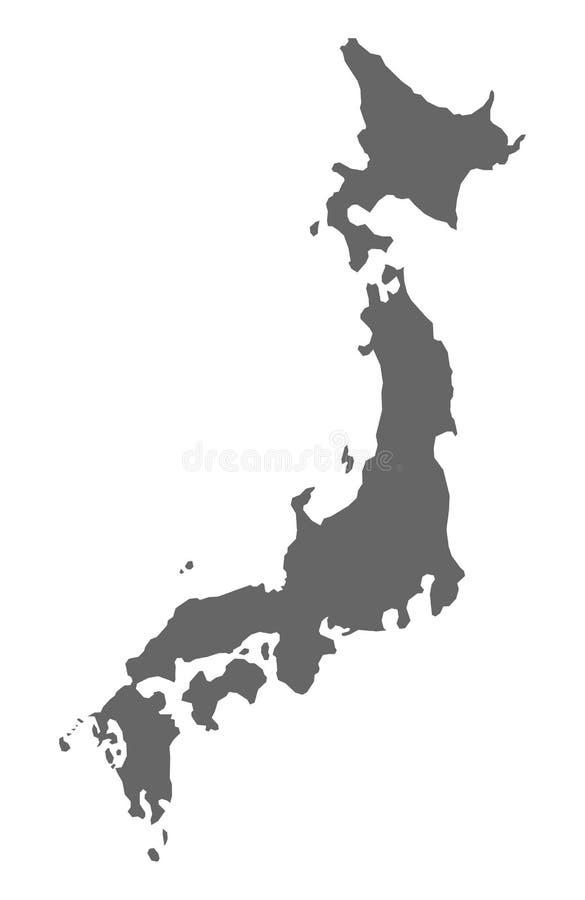 Carte du Japon, concept de voyage de géographie de l'Asie, vecteur de scène de terre illustration stock