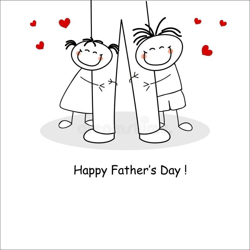 Carte du jour de père illustration libre de droits