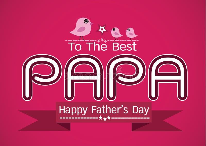 Carte du jour de père, PAPA d'amour ou PAPA heureux illustration libre de droits