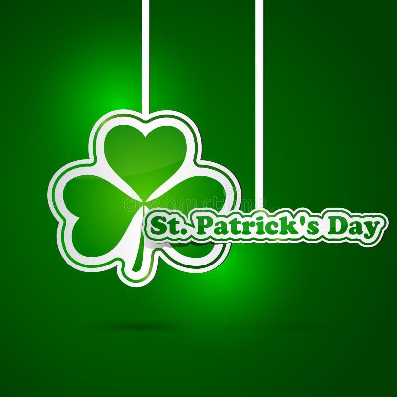 Carte du jour de St Patrick illustration de vecteur