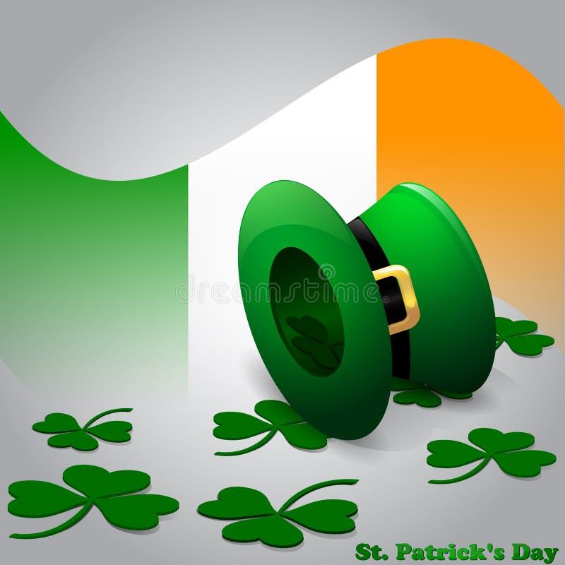 Carte du jour de St Patrick illustration stock
