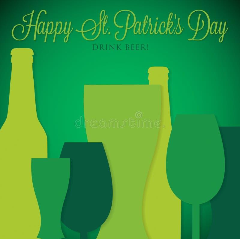 Carte du jour de St Patrick dans le format de vecteur illustration de vecteur