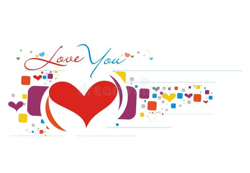 Carte du jour de Valentine illustration stock