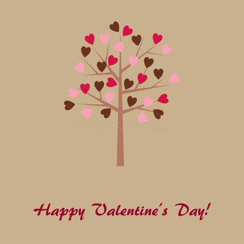 Carte du jour de Valentine illustration de vecteur