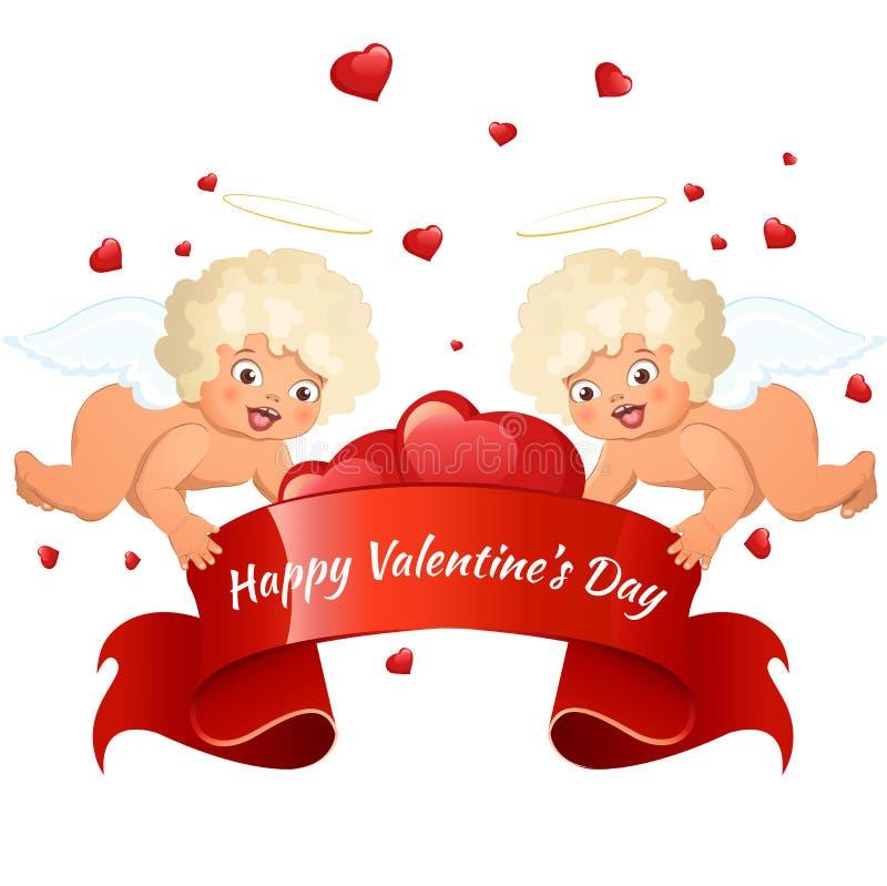 Carte du jour de Valentine photo stock