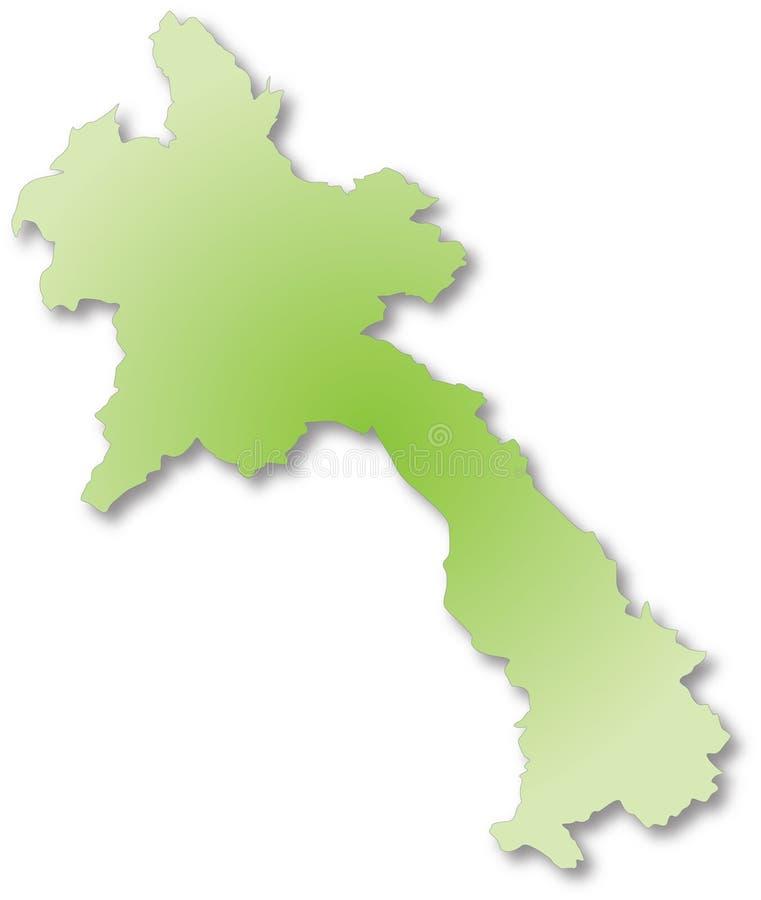 Carte du Laos illustration stock