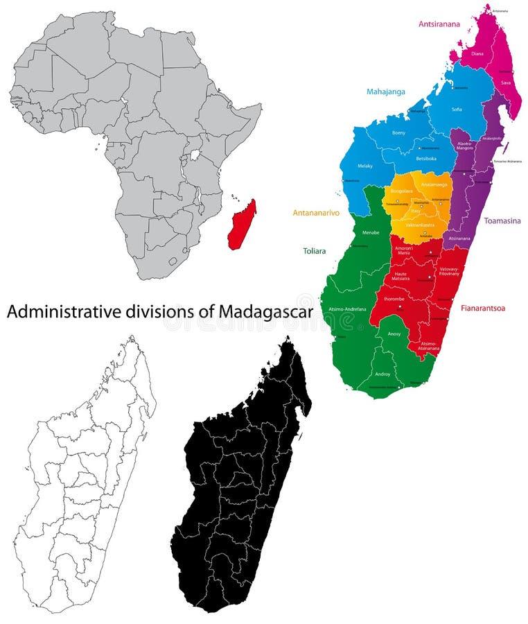 Carte du Madagascar illustration libre de droits