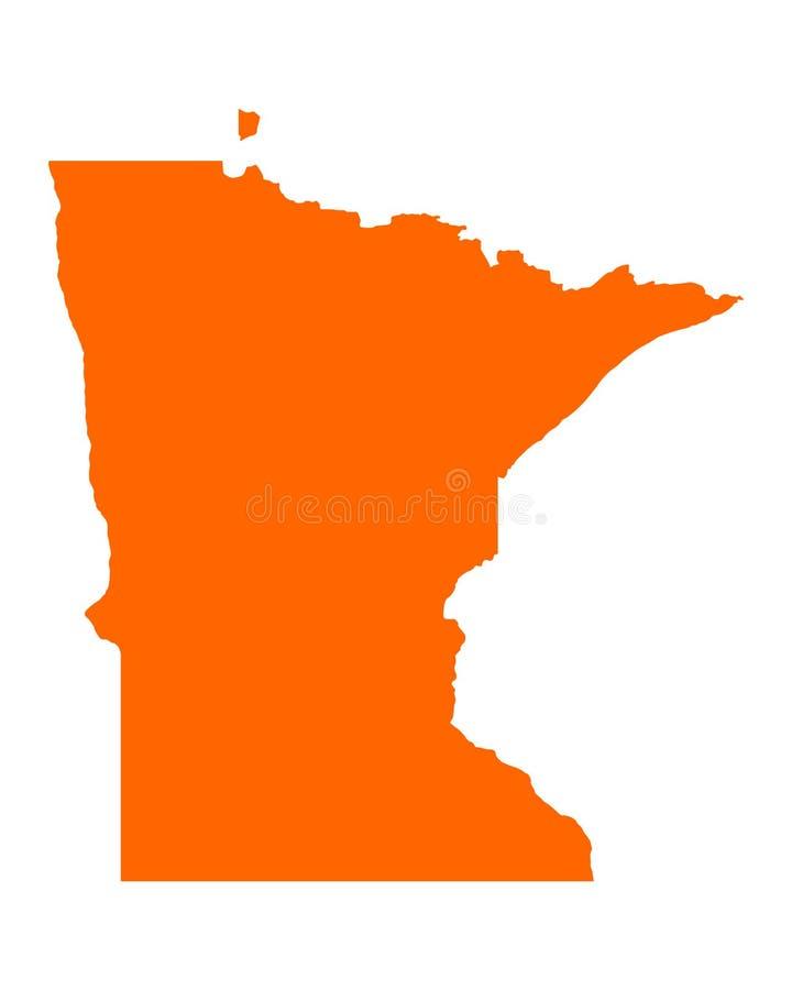 Carte du Minnesota illustration stock