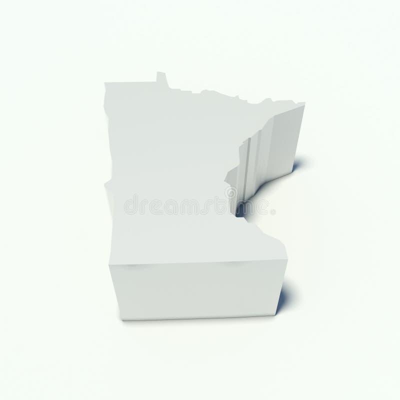 Carte du Minnesota illustration de vecteur