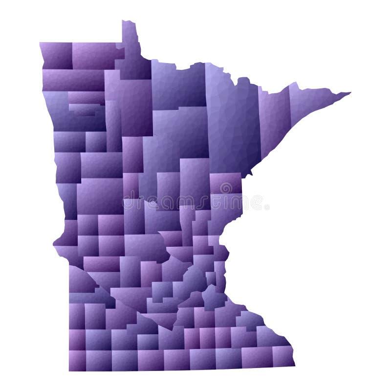 Carte du Minnesota illustration libre de droits
