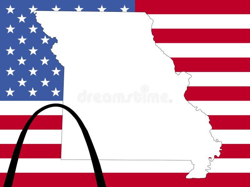 Carte du Missouri illustration de vecteur