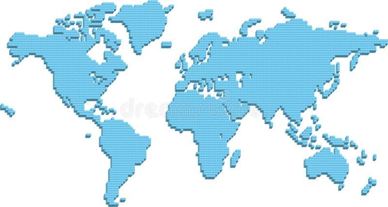 Carte du monde illustration stock