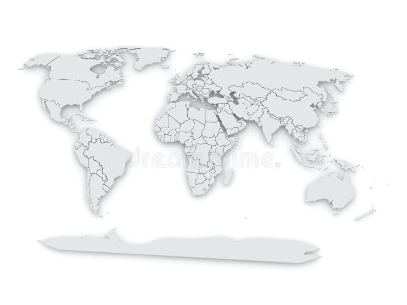 Carte du monde. illustration de vecteur