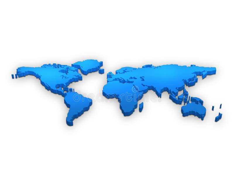 carte du monde 3d illustration de vecteur