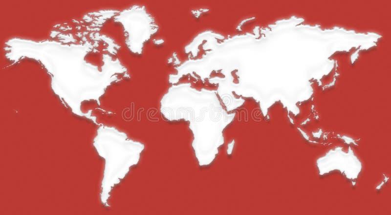 Carte X du monde illustration stock