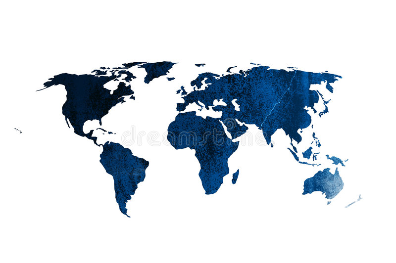 Carte du monde lizenzfreie abbildung