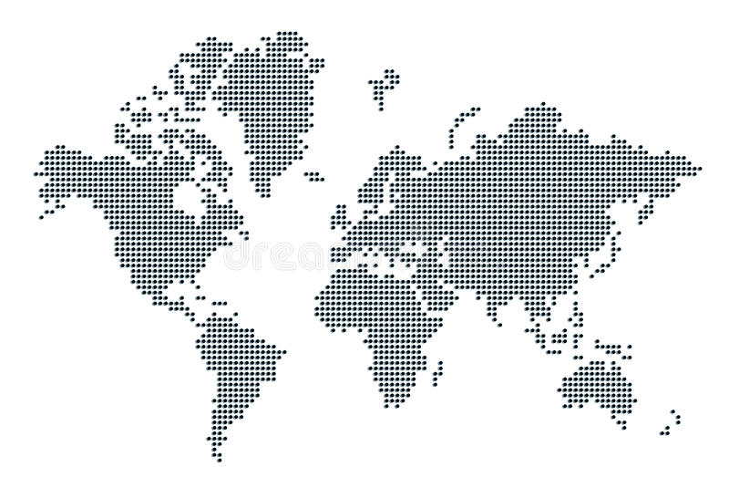 Carte du monde illustration stock