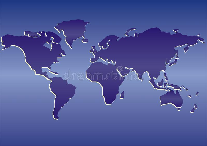 Carte du monde images stock
