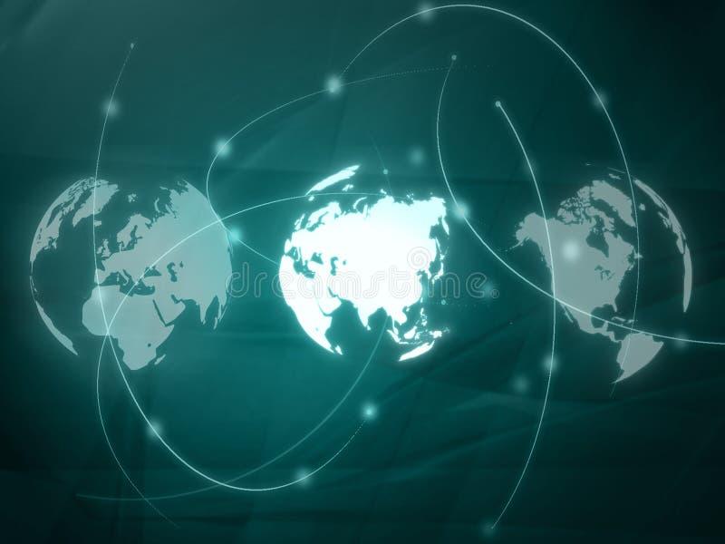 Carte du monde - carte de l'Asie illustration libre de droits