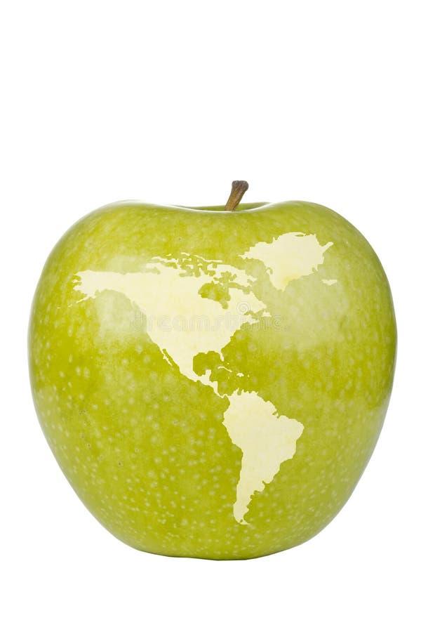 Carte du monde d'Apple photographie stock
