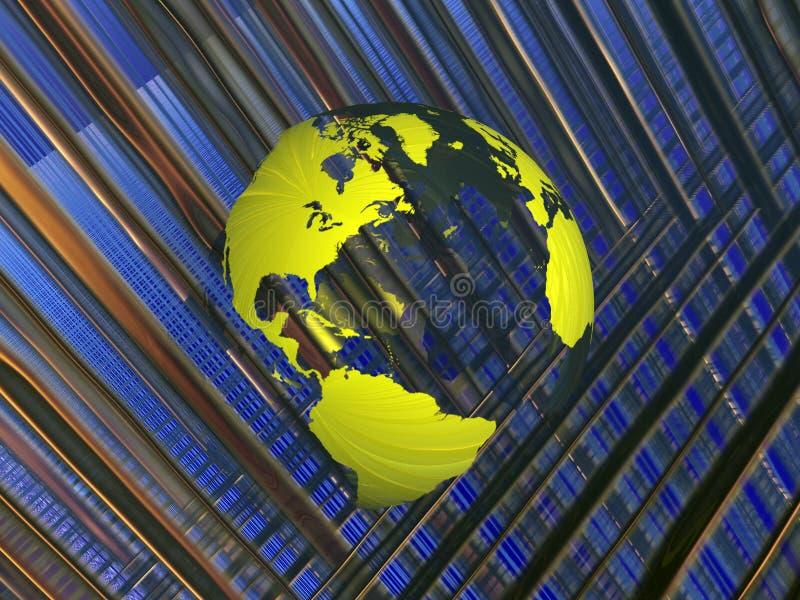 Download Carte Du Monde Dans La Matrice. Illustration Stock - Illustration du pouvoir, coloré: 735447