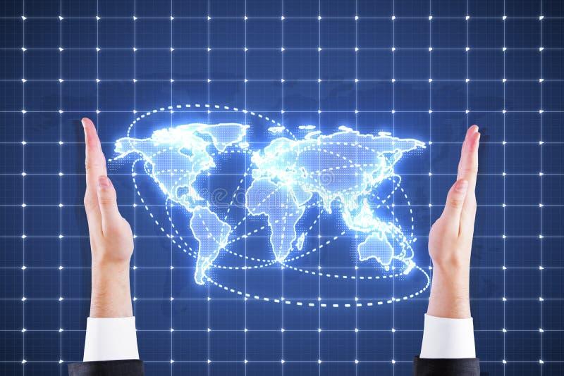 Carte du monde de Digital illustration de vecteur