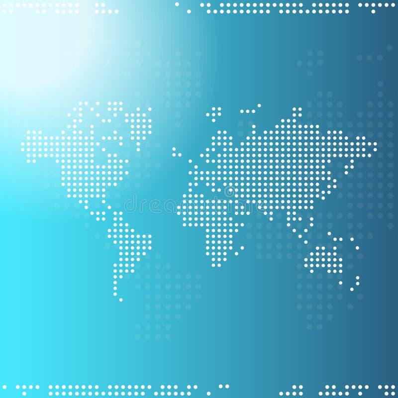 Carte du monde de Digitals illustration stock