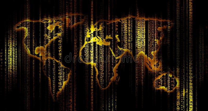 Carte du monde de Digitals photo stock