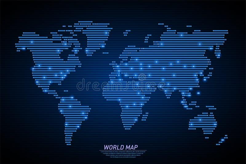 Carte du monde de la terre illustration stock