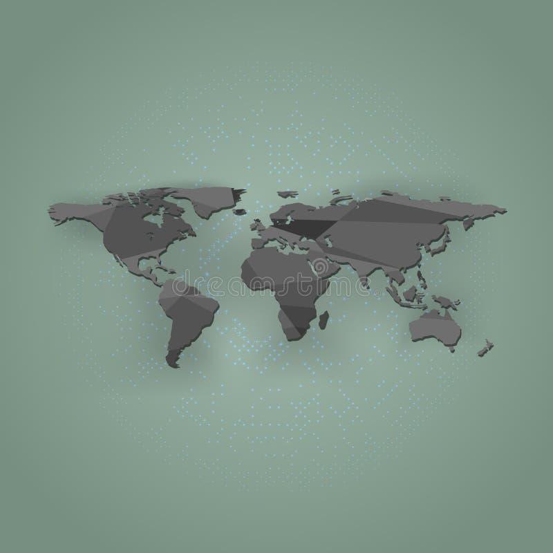 Download Carte Du Monde De Polygone Sur Un Fond Vert, Illustration Illustration de Vecteur - Illustration du géographie, earth: 87703490