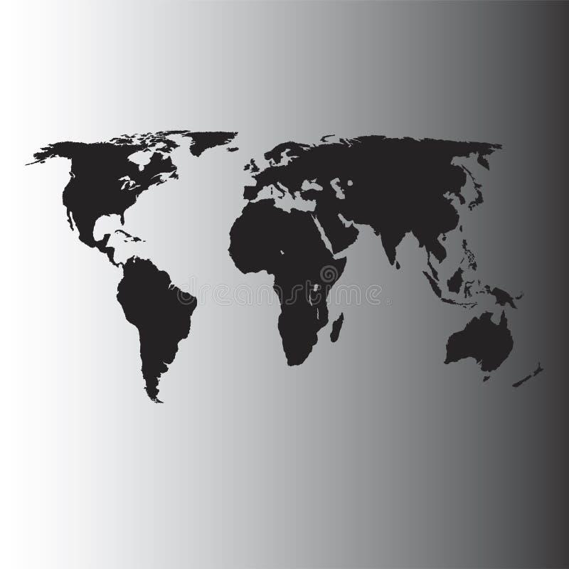 Carte du monde de vecteur illustration libre de droits