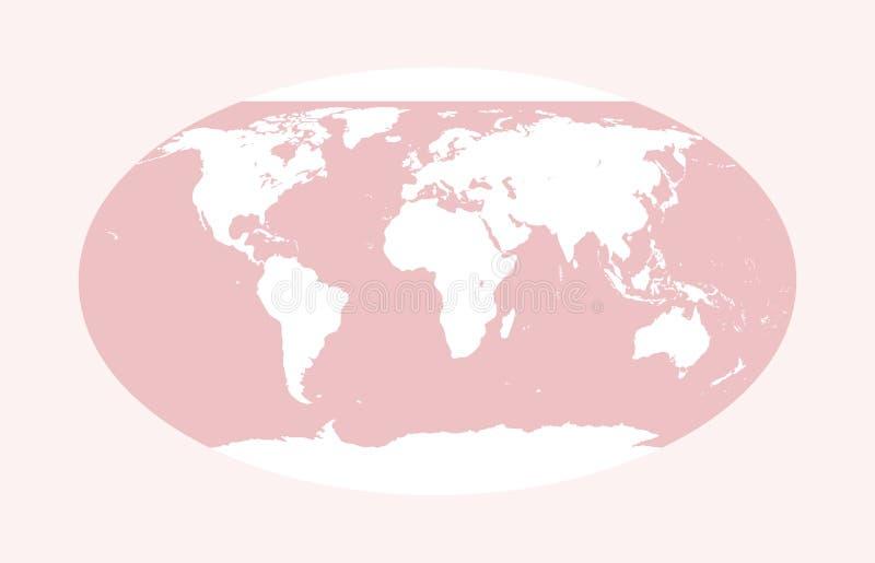 Carte du monde de vecteur Globe rose photographie stock