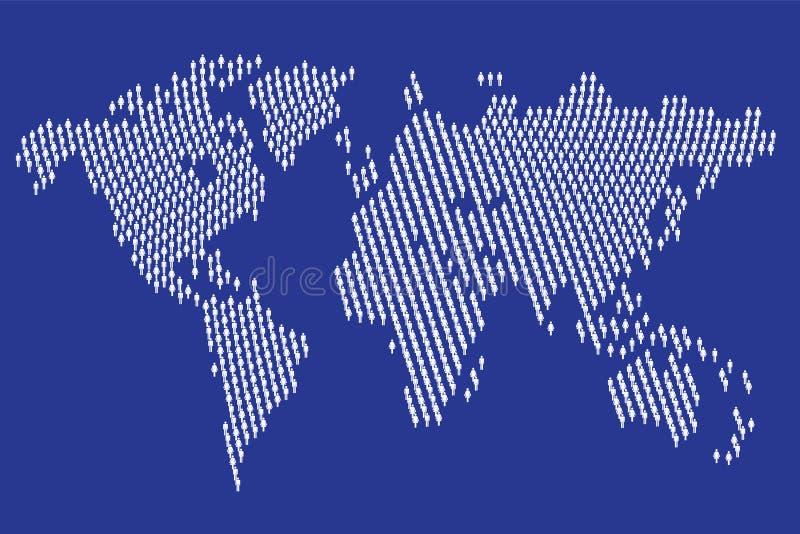 Carte du monde des symboles mâles et femelles illustration stock