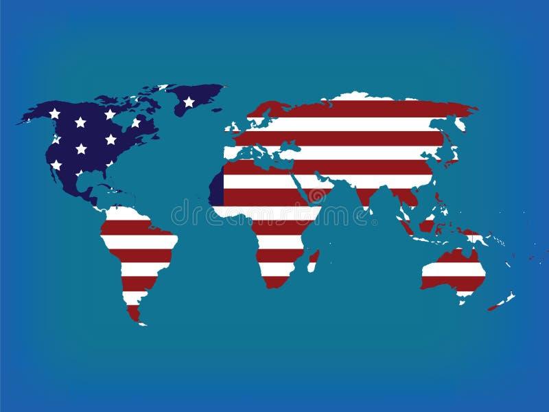 Carte du monde en couleurs illustration libre de droits