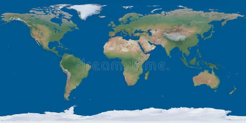 Carte du monde les deux hémisphères sur une feuille illustration stock