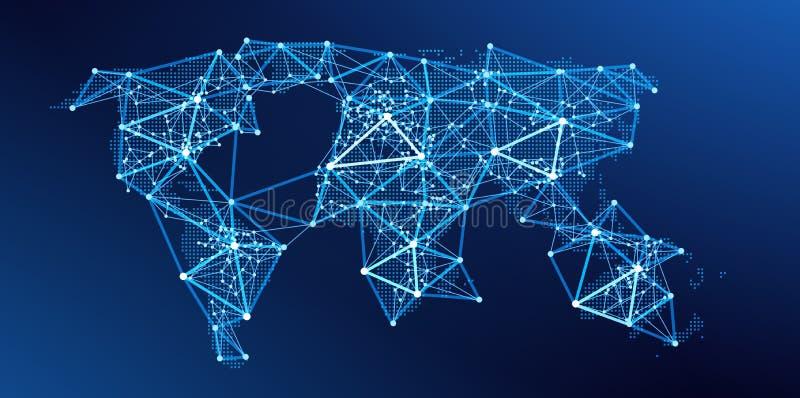 Carte du monde Réseau global Vecteur illustration libre de droits