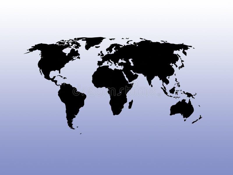 Carte du monde sur un fond de gradient illustration de vecteur