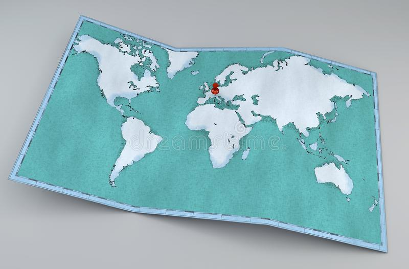 Carte du monde, traçages tirés par la main et illustrés, carte géographique illustration de vecteur