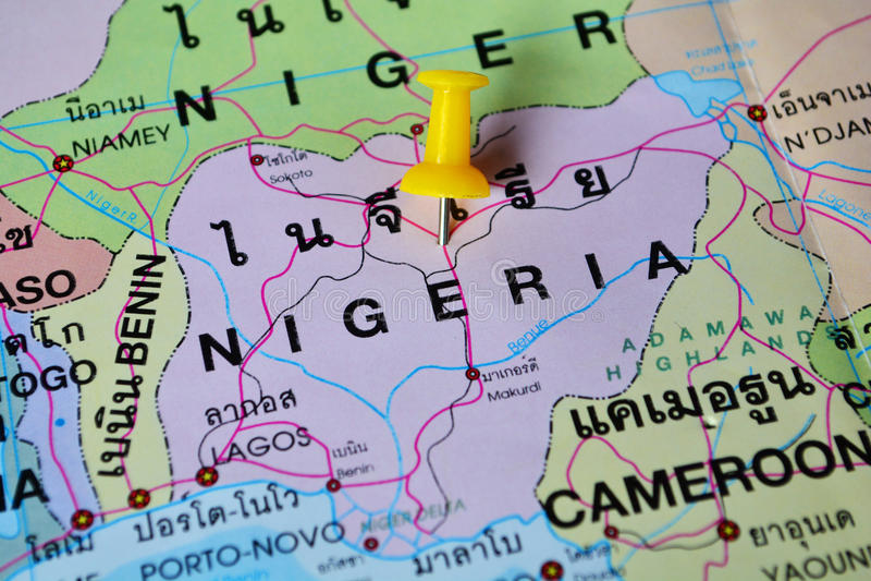 Carte du Nigéria photo libre de droits