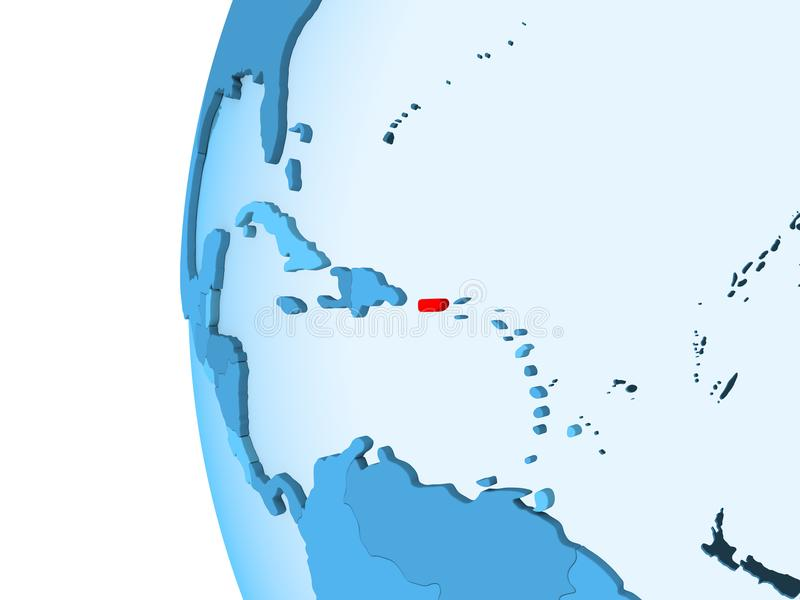Carte du Porto Rico illustration stock