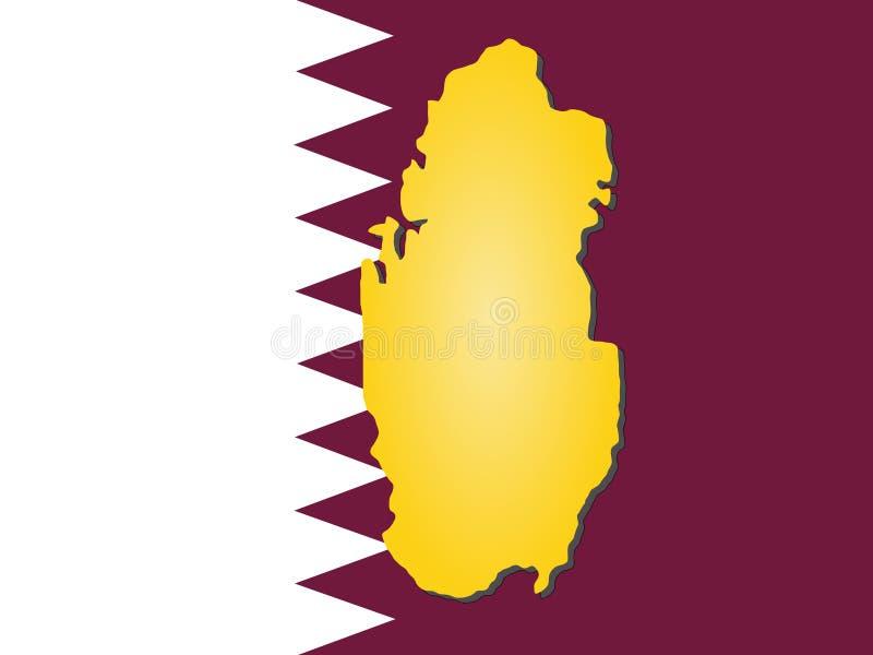 Carte du Qatar illustration de vecteur
