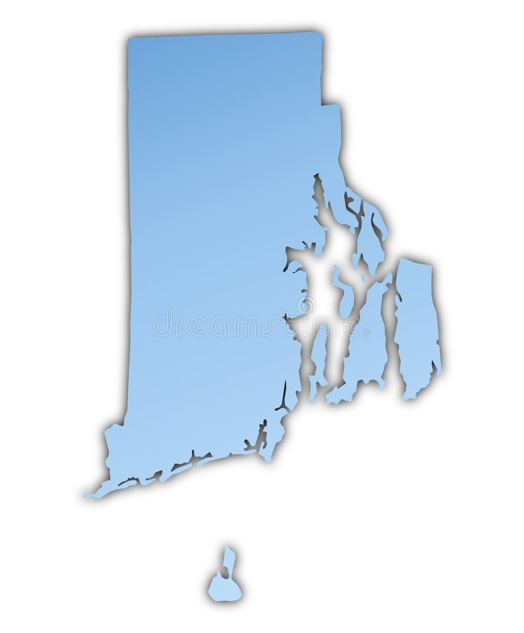 Carte du Rhode Island (Etats-Unis) illustration libre de droits