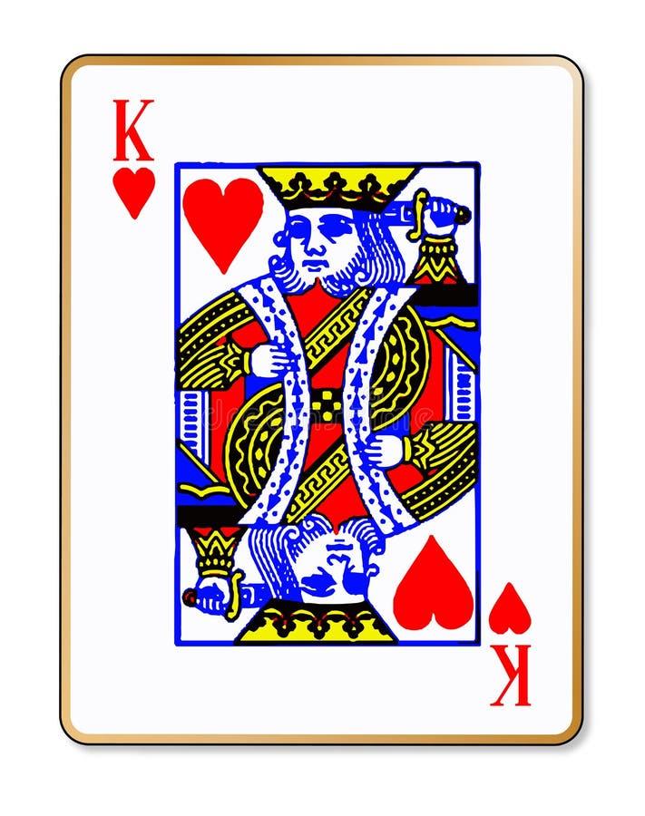Carte du Roi Hearts Isolated Playing illustration de vecteur