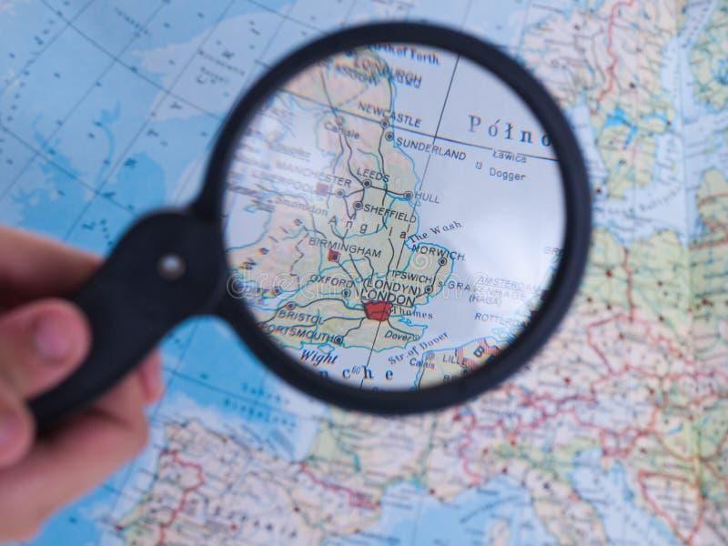 Carte du Royaume-Uni images stock