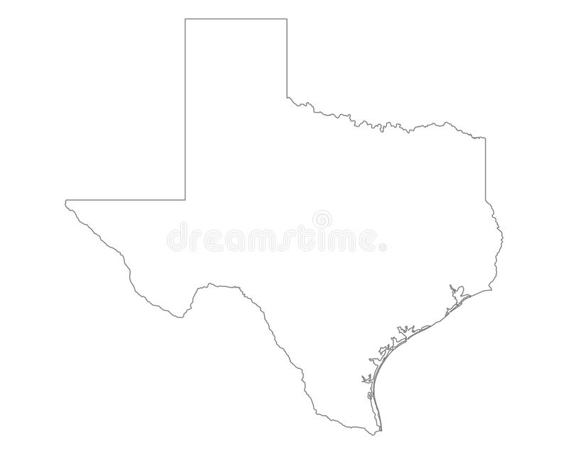 Carte du Texas illustration stock