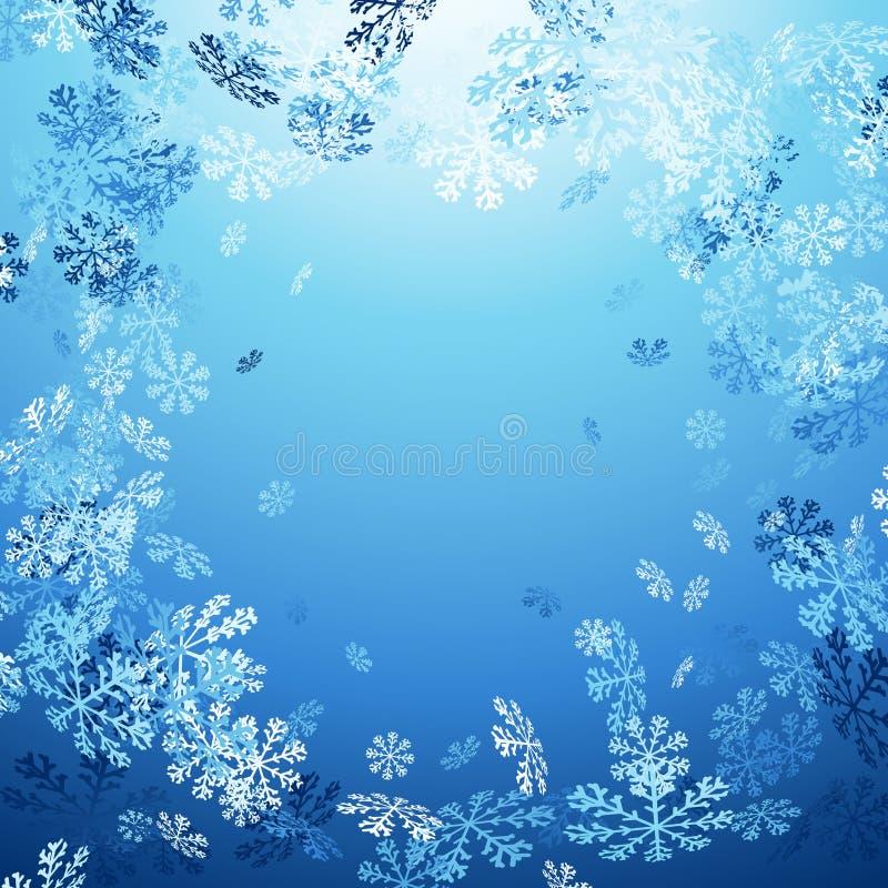 Carte en baisse de cadre d'hiver de neige de Joyeux Noël illustration libre de droits